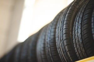 detail stack of new car tire automotive, rubber wheel car for automobile transportation